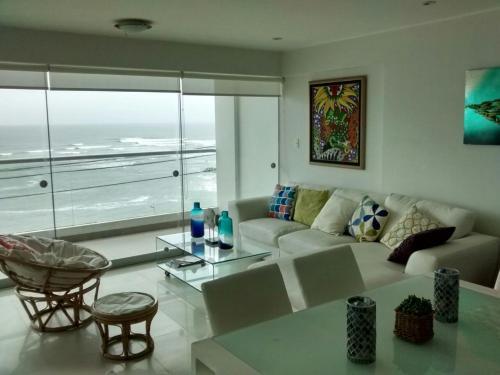 A seating area at Apartamento Playa Señoritas