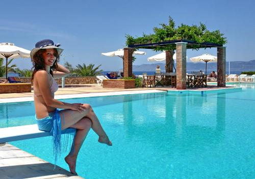 The swimming pool at or near Panselinos Hotel