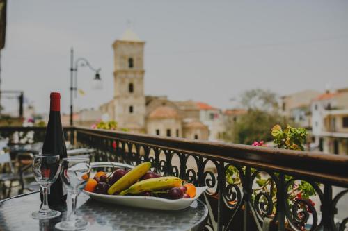 A balcony or terrace at Alkisti City Hotel