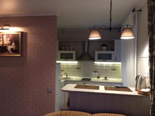 A kitchen or kitchenette at Apartment on Lenina st.56
