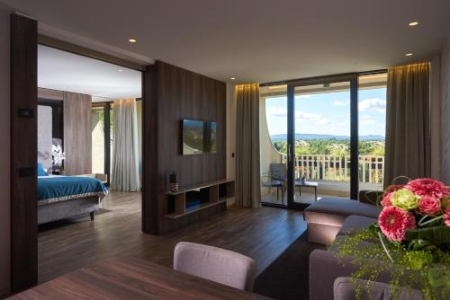 A room at Postojna Cave Hotel Jama