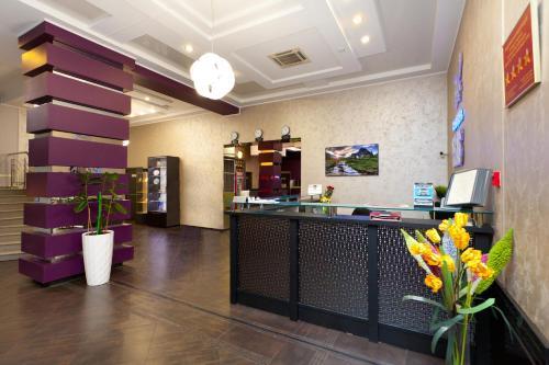 Лаундж или бар в Отель Пегас