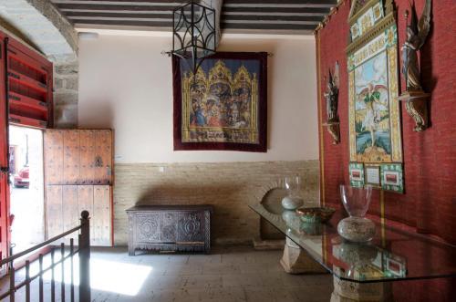 The lounge or bar area at Palacio Rejadorada