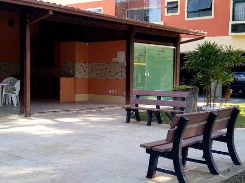 Uma varanda ou outra área externa em Apartamento Terracota Beira Mar