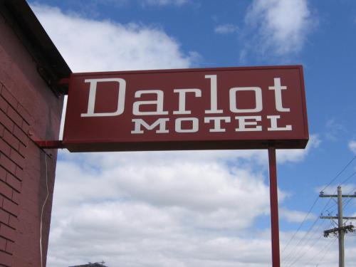 A certificate, award, sign, or other document on display at Darlot Motor Inn