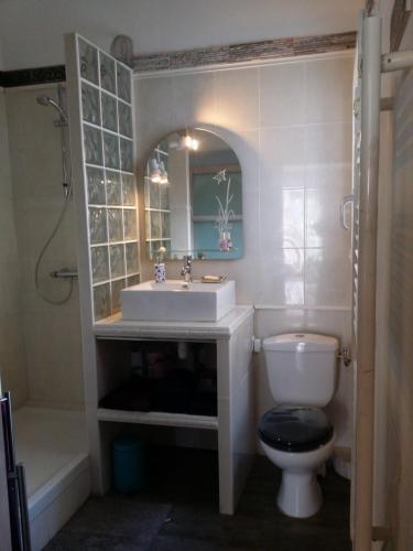 A bathroom at Grand Studio Vieux Port