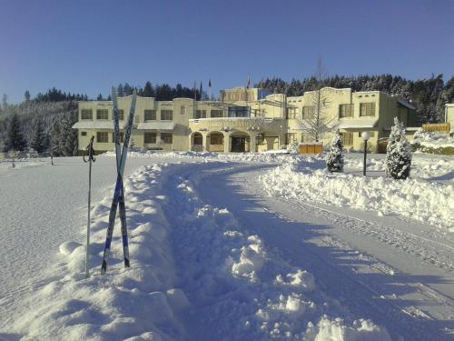 Hotelový resort Šikland during the winter