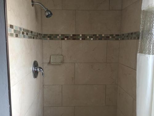 A bathroom at Townhouse Motel - West Sacramento