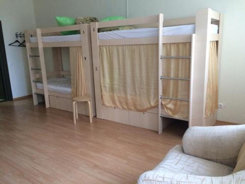 A bunk bed or bunk beds in a room at Hostel №1