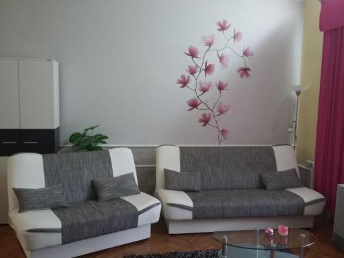Prostor za sedenje u objektu Guest House Anna Vendégház