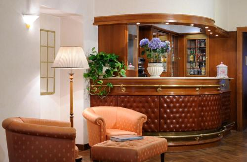 The lobby or reception area at Hotel Torino
