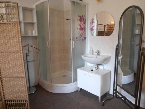 Koupelna v ubytování Penzion Vlasta
