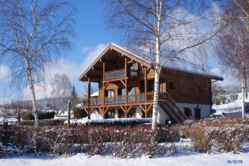 Chalet du Lac during the winter