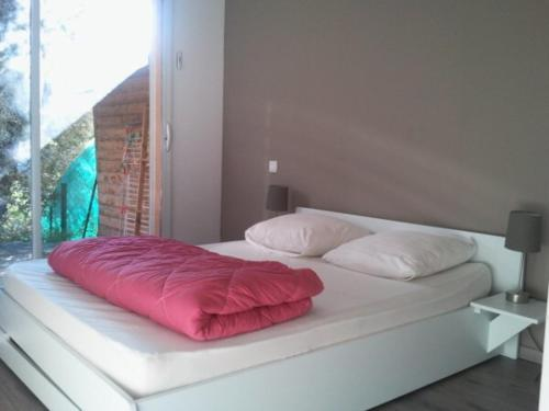 A bed or beds in a room at Appartement de charme terrasse solarium au calme