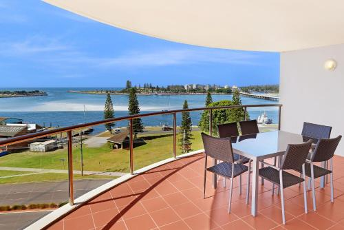 A balcony or terrace at Sunrise Luxury Apartments