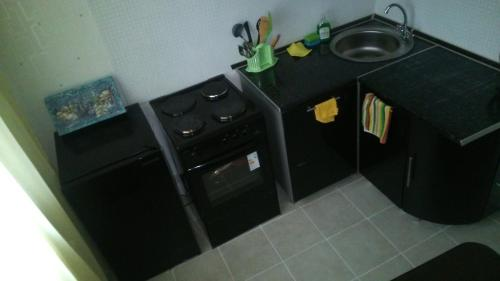 A kitchen or kitchenette at Apartment on Andreevka