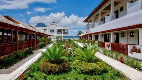 A garden outside The Nest El Nido Beach Resort
