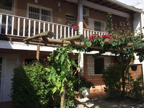 Uma varanda ou outra área externa em Kitchenette Charmosa no Itagua