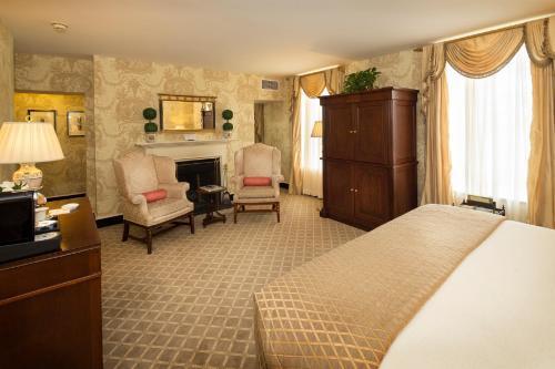 A room at Williamsburg Inn - A Colonial Williamsburg Hotel