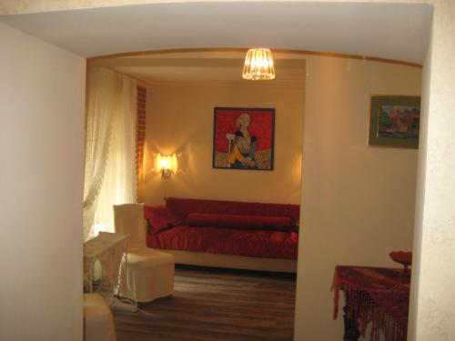 A seating area at Art Apartment
