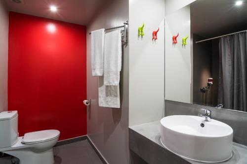 Ванная комната в Vergina Hotel