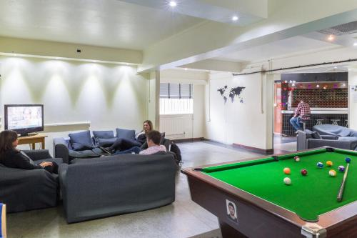 A billiards table at Lillian Penson Hall, University Of London