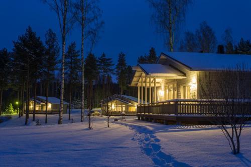 Delta Cottages Palausniemi under vintern