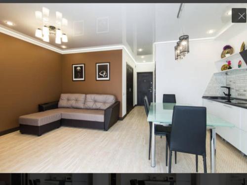 Гостиная зона в Апартаменты на Виноградной 4