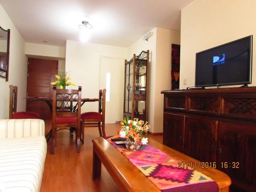The lobby or reception area at Bonito Apartamento en Miraflores