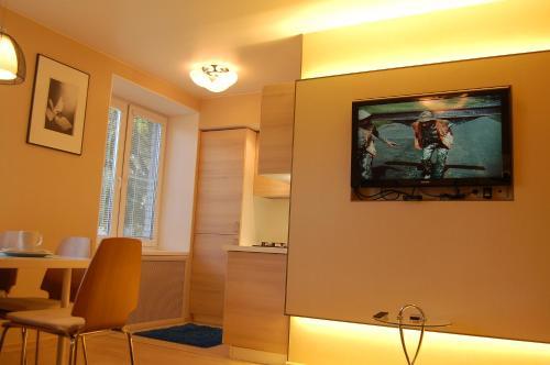 A television and/or entertainment center at Apartments at Dashkevicha 7