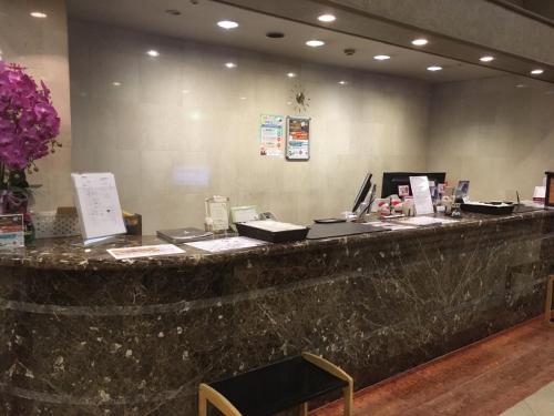 Hall ou réception de l'établissement Oustat Kokusai Hotel Tajimi