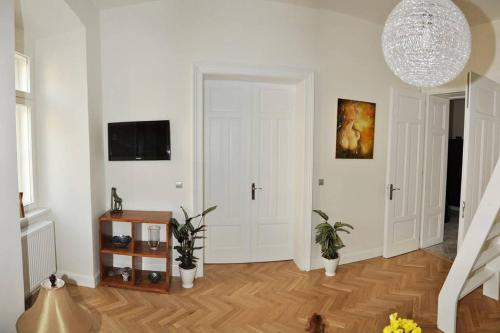 A television and/or entertainment center at Luxury Apartment Novobranska