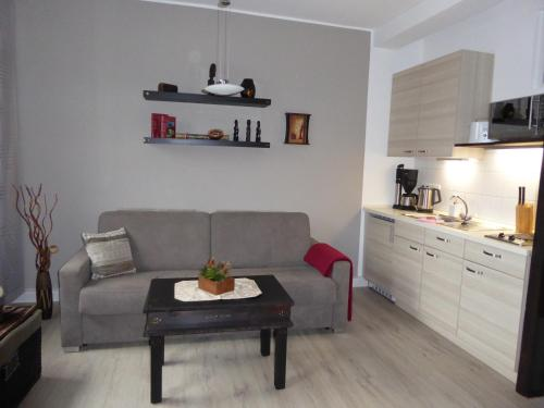 Küche/Küchenzeile in der Unterkunft Ferienwohnung Kaune