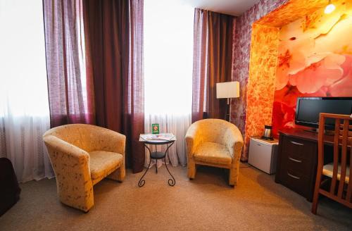 Гостиная зона в Beerloga Hotel