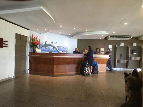 The lobby or reception area at Apartamentos Privados Beira Mar View