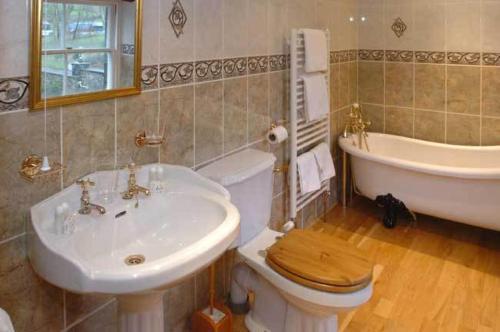 A bathroom at Craig-Y-Nos Castle