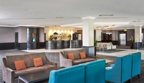 The lobby or reception area at DoubleTree by Hilton Coventry