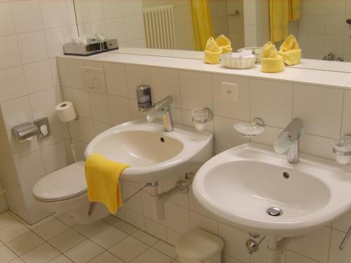 Ein Badezimmer in der Unterkunft Zunfthaus zu Wirthen