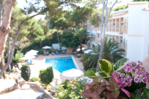 A view of the pool at Hotel Cala Gat or nearby