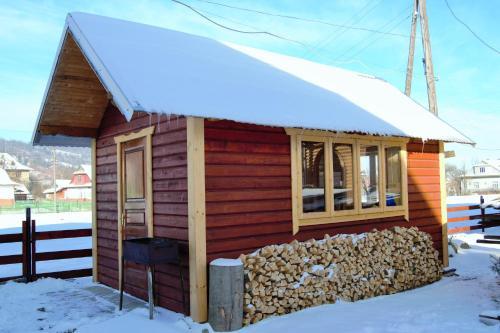 Faina House during the winter