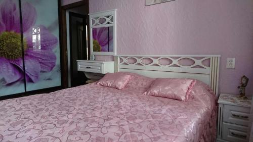 Кровать или кровати в номере Рент Житомир Апарт
