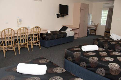A seating area at Jackaroo Motel