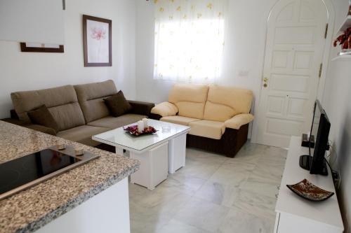 A seating area at Apartamento Andalucía