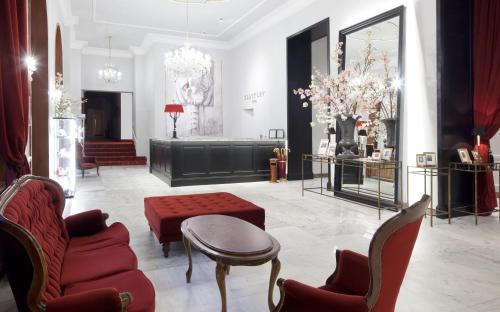 De lobby of receptie bij Clarion Grandhotel Zlaty Lev