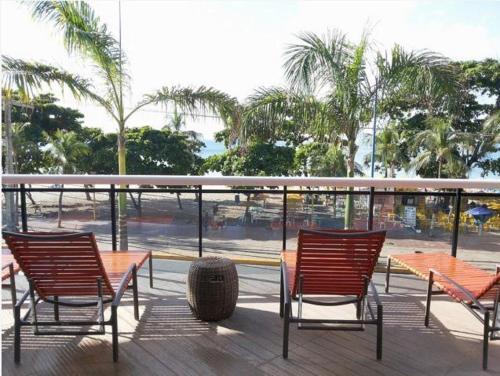 A balcony or terrace at Landscape Fortaleza 1506 Diamond