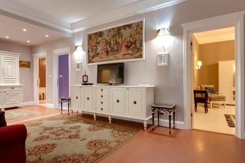 Zona de estar de Florence Apartments, Home Feeling