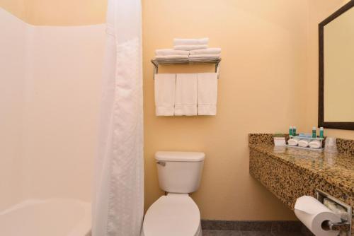 A bathroom at Holiday Inn Express Morgantown