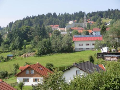 Blick auf Ferienhaus Gustl aus der Vogelperspektive