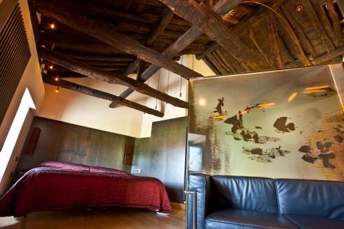 Cama o camas de una habitación en Hotel El Convento de Mave