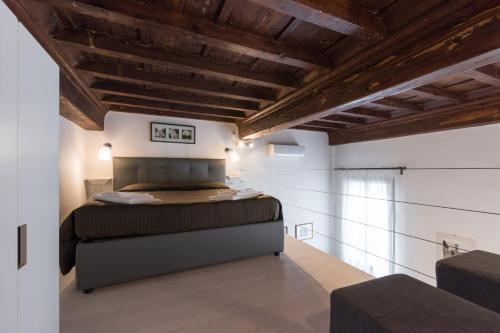 Cama o camas de una habitación en Apartment San Gallo